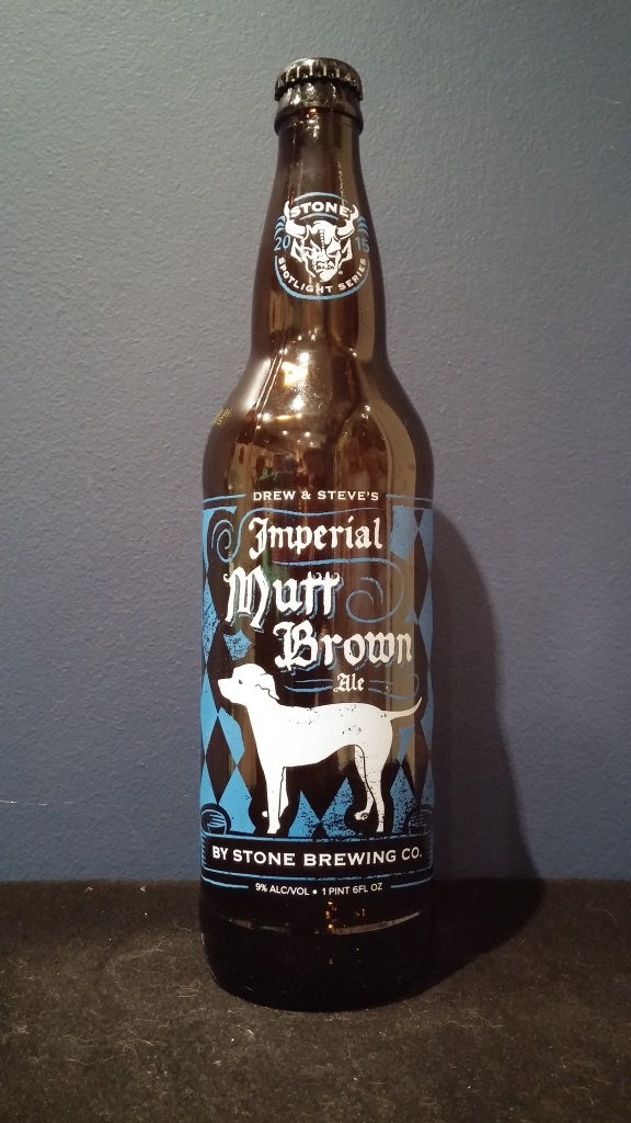 Drew & Steve's Imperial Mutt Brown Ale, Stone Brewing Co.jpg