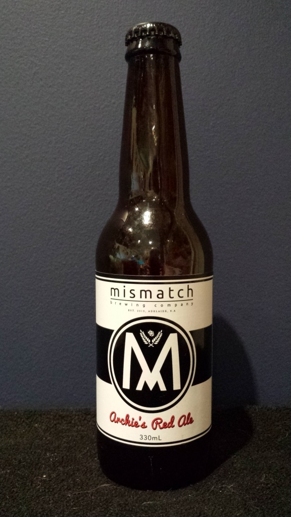 Archie's Red Ale, Mismatch Brewing Company.jpg