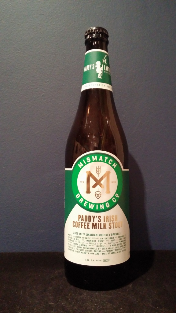 Paddy's Irish Coffee Milk Stout, Mismatch Brewing Company.jpg