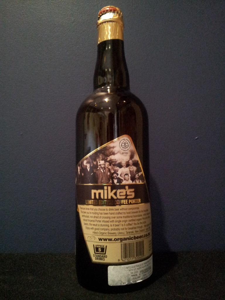 Mike's Limited Edition Coffee Porter, Mike's Organic Brewery.jpg