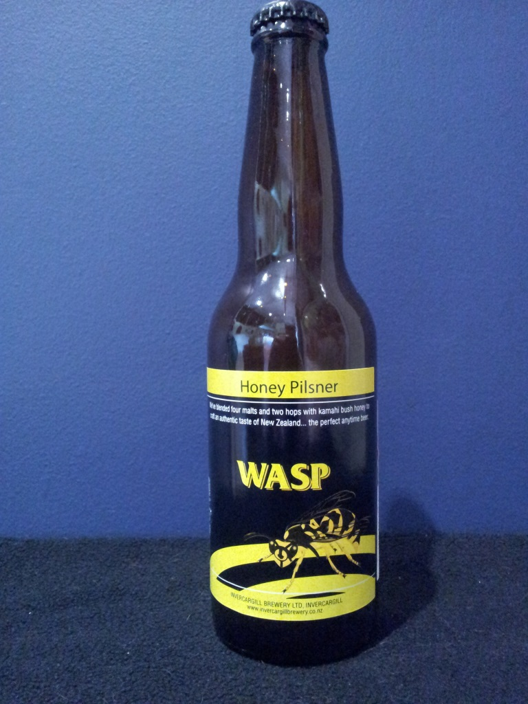 Wasp Honey Pilsner, Invercargill Brewery.jpg