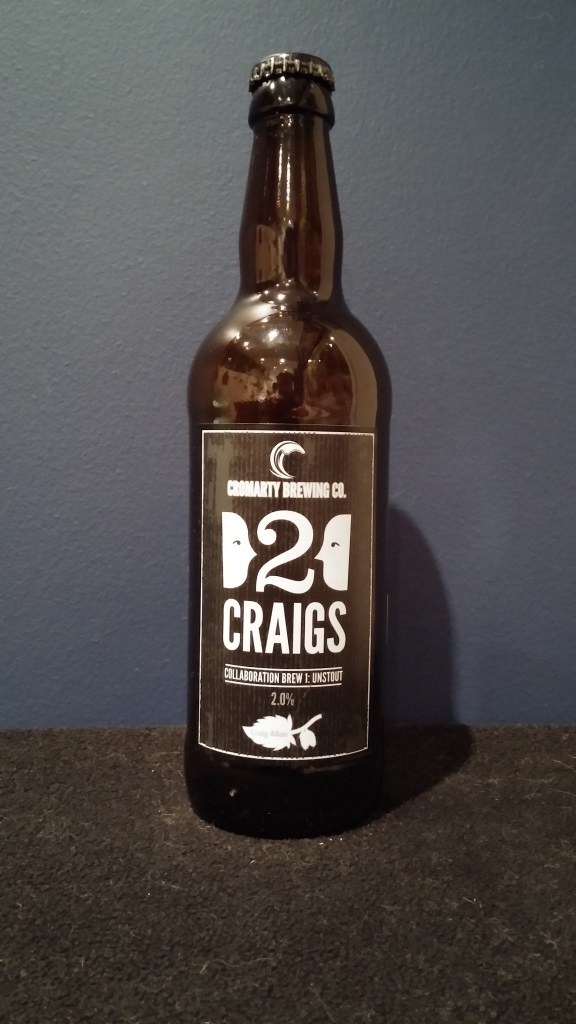 Cromarty 2 Craigs Collaboration Brew 1 Unstout, Cromarty Brewing.jpg